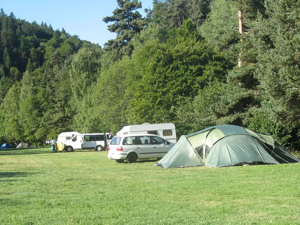 emplacement camping tente lozere